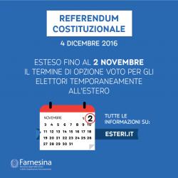 4 Décembre : Referendum Costituzionale en Italie