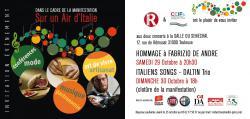 SUR UN AIR D'ITALIE: Samedi 29 octobre 20h30 / Salle du Sénéchal