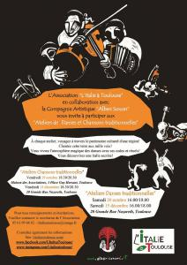 NOUVEAU! Ateliers Chansons traditionnelles avec ALBERI SONORI