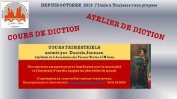 """NOUVEAUTÉ RENTRÉE 2019 COURS DE """"DIZIONE"""""""